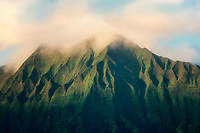 Mountains as seen from Kailua Beach Park, Oahu, Hawaii