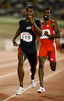 Jonathan Johnson winning the 800m in a time of 1:47.51sec. at the Jamaica International Invitational Meet on Saturday, May 3rd, 2008. Photo by Errol Anderson, The Sporting Image.
