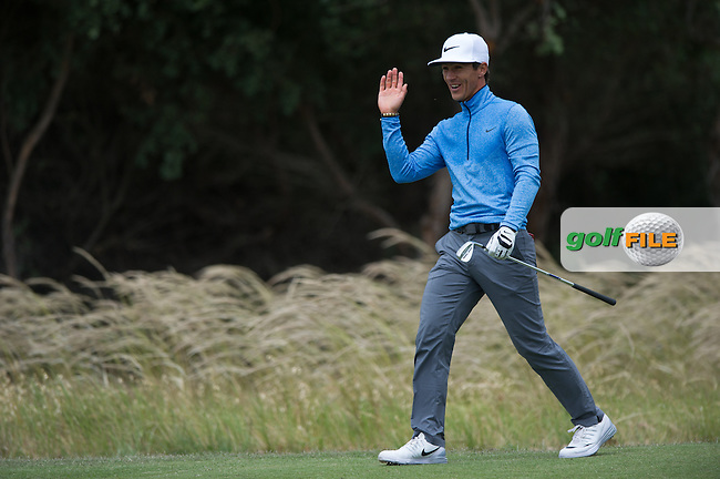 Thorbjorn Olesen (DEN) during the ISPS Handa World Cup of Golf, from Kingston heath Golf Club, Melbourne Australia. 24/11/2016<br /> Picture: Golffile | Anthony Powter<br /> <br /> <br /> All photo usage must carry mandatory copyright credit (&copy; Golffile | Anthony Powter)
