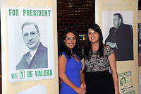 21-3-2014: Fianna Fail Ard Fheis Killarney: Pictured at the Fianna Fail Ard Fheis in Killarney on Friday were on left, Ann Keegan, Celbridge and Karen Seymour, Nenagh, Tipperary.<br /> Picture by Don MacMonagle