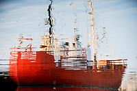 DENMARK, Bornholm , old GDR fishing vessel Seefuchs in harbour / Daenemark, Bornholm, alter DDR 26er Fischkutter Seefuchs im Hafen