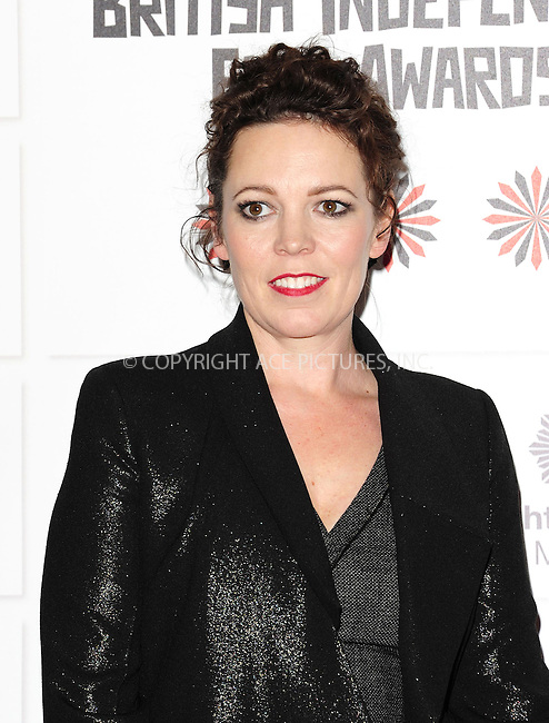 WWW.ACEPIXS.COM....US Sales Only....December 9 2012, London....Olivia Coleman at the British Independent Film Awards held at Old Billingsgate on December 8 2012 in London....By Line: Famous/ACE Pictures......ACE Pictures, Inc...tel: 646 769 0430..Email: info@acepixs.com..www.acepixs.com
