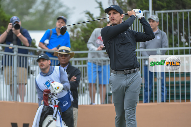 Jamie Lovemark (USA) watches his tee shot on 10 during Round 3 of the Valero Texas Open, AT&T Oaks Course, TPC San Antonio, San Antonio, Texas, USA. 4/21/2018.<br /> Picture: Golffile | Ken Murray<br /> <br /> <br /> All photo usage must carry mandatory copyright credit (© Golffile | Ken Murray)