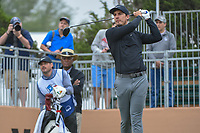 Jamie Lovemark (USA) watches his tee shot on 10 during Round 3 of the Valero Texas Open, AT&amp;T Oaks Course, TPC San Antonio, San Antonio, Texas, USA. 4/21/2018.<br /> Picture: Golffile | Ken Murray<br /> <br /> <br /> All photo usage must carry mandatory copyright credit (&copy; Golffile | Ken Murray)