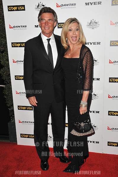 Olivia Newton-John & husband John Easterling at the 2011 G'Day USA Black Tie Gala at the Hollywood Palladium..January 22, 2011  Los Angeles, CA.Picture: Paul Smith / Featureflash