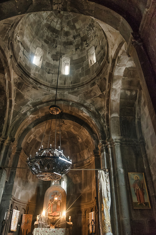 The Monastery of Geghard, with its remarkable rock-cut churches and tombs, is an exceptionally well preserved and complete example of medieval Armenian monastic architecture and decorative art.