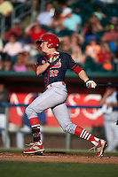 Peoria Chiefs outfielder Blake Drake (12) at bat during a game against the Lansing Lugnuts on June 6, 2015 at Cooley Law School Stadium in Lansing, Michigan.  Lansing defeated Peoria 6-2.  (Mike Janes/Four Seam Images)