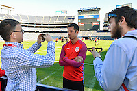 San Diego, CA - Saturday January 28, 2017: Benny Feilhaber addresses the media during a USMNT press conference at Qualcomm Stadium.