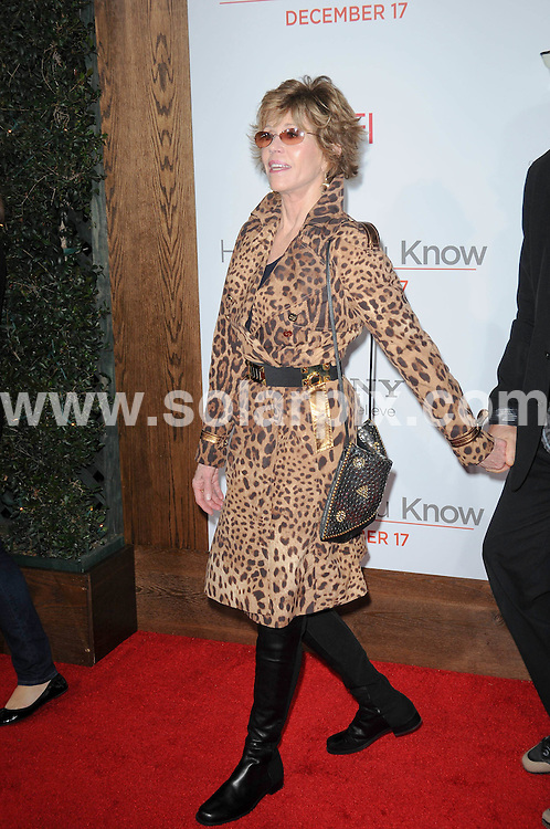 **ALL ROUND PICTURES FROM SOLARPIX.COM**                                             **SYNDICATION RIGHTS FOR UK, AUSTRALIA, DENMARK, PORTUGAL, S. AFRICA, SPAIN & DUBAI (U.A.E) & ASIA (EXCLUDING JAPAN) ONLY**                                                                                  Caption: Arrivals for the How Do You Know Los Angeles Premiere, Held at the Regency Village Theatre, Los Angeles, USA. 13 December 2010                                                                            This pic: Jane Fonda                                                                       JOB REF: 12601 PHZ Charlotte  DATE: 13_12_2010                                                           **MUST CREDIT SOLARPIX.COM OR DOUBLE FEE WILL BE CHARGED**                                                                      **MUST AGREE FEE BEFORE ONLINE USAGE**                               **CALL US ON: +34 952 811 768 or LOW RATE FROM UK 0844 617 7637**