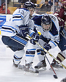 Keenan Hopson, Mike Hamilton - The Boston College Eagles defeated the University of Maine Black Bears 4-1 in the Hockey East Semi-Final at the TD Banknorth Garden on Friday, March 17, 2006.