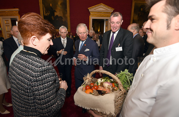16 November 2016 - London, England - Prince Charles Prince of Wales with Richard Virr, Abbeyfield Director of Development at a reception to celebrate the 60th Anniversary of Abbeyfield charity at St James's Palace in London. Photo Credit: Alpha Press/AdMedia