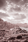 Formentor in Majorca, Spain in Black and White Sepia Tone