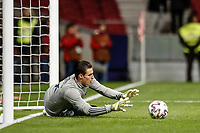 18th November 2019; Wanda Metropolitano Stadium, Madrid, Spain; European Championships 2020 Qualifier, Spain versus Romania;  Kepa Arrizabalaga (ESP)  Pre-match warm-up - Editorial Use