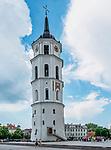 Litwa, Wilno, 08.07.2014.Dzwonnica katedralna w Wilnie.