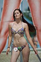 Nikolett Meszaros attends the Miss Bikini Hungary beauty contest held in Budapest, Hungary on August 06, 2011. ATTILA VOLGYI