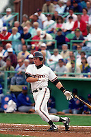 SCOTTSDALE, AZ - Matt Williams of the San Francisco Giants bats during a spring training game against the Chicago Cubs at Scottsdale Stadium in Scottsdale, Arizona in 1991. Photo by Brad Mangin