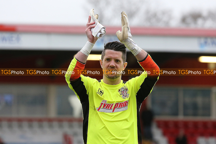 Chris Day of Stevenage celebrates victory during Stevenage vs Notts County, Sky Bet EFL League 2 Football at the Lamex Stadium on 4th March 2017