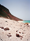 ERITREA, Dankalia, the Red Sea and volcanic coastal landscape