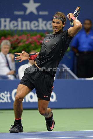FLUSHING NY- SEPTEMBER 04: Rafael Nadal Vs Fabio Fognini on Arthur Ashe Stadium at the USTA Billie Jean King National Tennis Center on September 4, 2015 in Flushing Queens. Credit: mpi04/MediaPunch