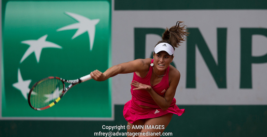 MONICA PUIG (PUR)<br /> <br /> Tennis - French Open 2014 -  Toland Garros - Paris -  ATP-WTA - ITF - 2014  - France -  26 May 2014. <br /> <br /> &copy; AMN IMAGES
