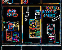 poster for Hard Boiled Records owner, Mark Furgeson (photo by Mark Furgeson, my rendition drawn with markers)