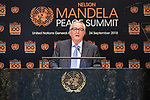 Opening Plenary Meeting of the Nelson Mandela Peace Summit<br /> <br /> His Excellency Jean-Claude JUNCKERPresident of the European Commission