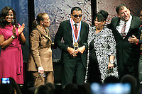 PHILADELPHIA, PA - SEPTEMBER 13 : A true champion of freedom, Muhammad Ali receives the National Constitution Center's 2012 Liberty Medal an star-studded ceremony marking the nationwide celebration of the U.S. Constitution's 225tth anniversary at the National Constitution Center in Philadelphia, Pa on September 13, 2012  &copy; Star Shooter / MediaPunchInc /NortePhoto.com<br />