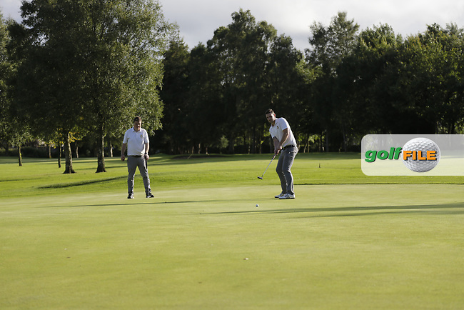Oliver Mulvenna (Cairndhu) Andrew King (Cairndhu) during the final of the AIG Jimmy Bruen Ulster Final at Dungannon Golf Club, Dungannon, Tyrone, Ireland. 11/08/2017<br /> Picture: Fran Caffrey / Golffile