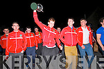 Pobalscoil Chorca Dhuibhne footballers back in Dingle after winning the Corn Uí hÓgain All-Ireland in Croke Park on Saturday night.