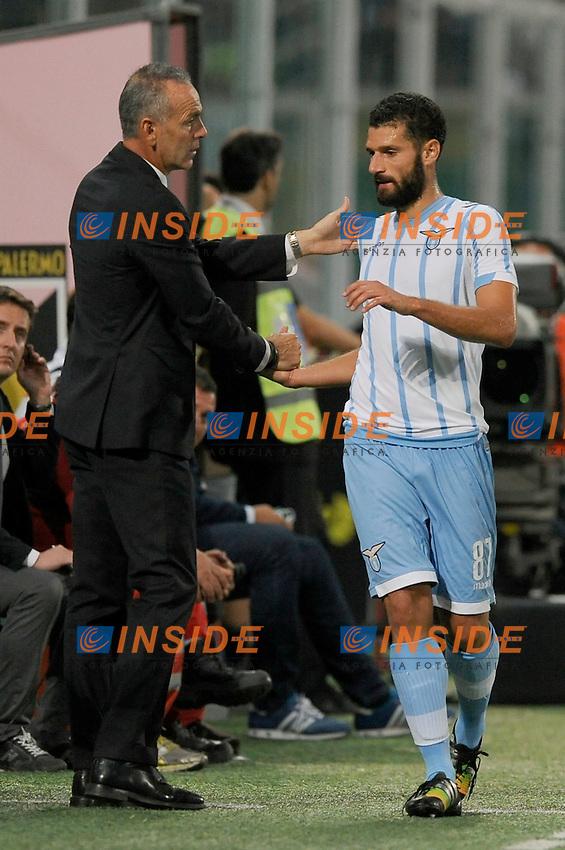 Stefano Pioli, Antonio Candreva Lazio <br /> Palermo 29-09-2014 Stadio La Favorita, Football Calcio Serie A Palermo - Lazio. Foto Insidefoto