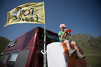 young fan up the Col du Tourmalet (HC/2115m/17km/7.3%)<br /> <br /> st11: Pau - Cauterets (188km)<br /> 2015 Tour de France