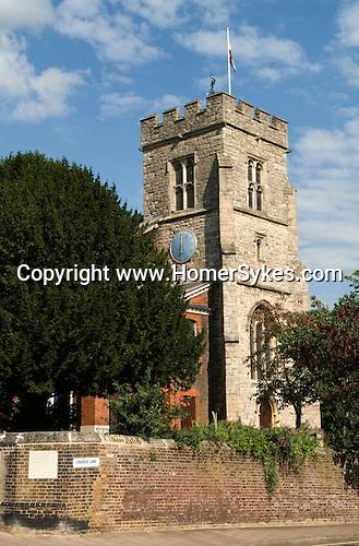 Twickenham Middlesex. UK . St Mary's Church.