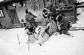 Maramures Romania<br /> December 31,1992<br /> <br /> New Years eve ritual.