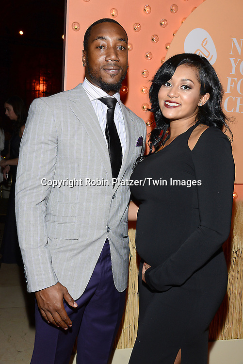 Mario Manningham and wife  attends the New Yorkers for Children 15th Annual Fall Gala to Benefit Youth in Foster Care which is presented by Chloe and David Yurman at Cipriani 42nd Street on September 30,2014 in New York City. <br /> <br /> photo by Robin Platzer/Twin Images<br />  <br /> phone number 212-935-0770