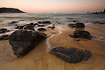 Rocks and sunset at Dhail Mor beach, Lewis, Outer Hebrides