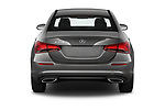 Straight rear view of 2019 Mercedes Benz A-Class-Sedan A-220 4 Door Sedan Rear View  stock images