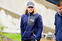 June 6, 2017: New England Patriots assistant coach Steve Belichick walks to practice in the rain at the New England Patriots mini camp held on the practice field at Gillette Stadium, in Foxborough, Massachusetts. Eric Canha/CSM