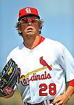 3 March 2011: St. Louis Cardinals' outfielder Colby Rasmus in action during a Spring Training game against the Washington Nationals at Roger Dean Stadium in Jupiter, Florida. The Cardinals defeated the Nationals 7-5 in Grapefruit League action. Mandatory Credit: Ed Wolfstein Photo