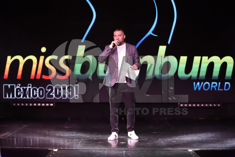 CIDADE DO MÉXICO, MÉXICO, 30.09.2019 - MISS-BUMBUM - Beto Rojas apresenta  a final do concurso Miss Bumbum World na  ForoTotal Play na Cidade do México na capital mexicana nesta segunda-feira, 30.  (Foto: William Volcov/Brazil Photo Press)