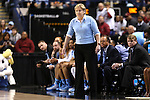 27 March 2015: UNC head coach Sylvia Hatchell. The University of North Carolina Tar Heels played the University of South Carolina Gamecocks at the Greensboro Coliseum in Greensboro, North Carolina in a 2014-15 NCAA Division I Women's Basketball Tournament regional semifinal game. South Carolina won the game 67-65.