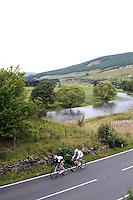 2009 Tour of Britain.Stage 3 - Peebles-Gretna.14 September 2009.Thomas de Gent, Topsport Vlaanderen.Martin Reimer, Cervelo Test team