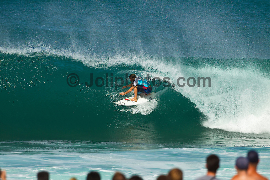 PIPELINE, Oahu/Hawaii (Wednesday, December 15, 2010) - Day 2 of the Billabong Pipe Masters in Memory of Andy Irons, the third and final stop on the Vans Triple Crown of Surfing (an ASP Specialty Series) got underway today, with Rounds 3 to 5 completed in challenging five foot (2 metre) waves at theBackdoor Pipeline on Oahu's North Shore..Kelly Slater (USA) scored the first perfect 10 point wave of the event, Dusty Payne (HAW) advanced past Round 3 and qualified for next years Top 32 and Stephanie Gilmore won her third Triple Crown of Surfing when she won the Duel for the Jewel from Tyler Wright (AUS) 2nd, Coco Ho (HAW) in 3rd and Alana Blanchard (HAW) in 4th.. .The final stop on the 2010 ASP World Tour, the Billabong Pipe Masters in Memory of Andy Irons utilised the ASP's Dual Heat Format again today, overlapping the man-on-man matches to take advantage of the swell on offer. With a smattering of Pipeline specialists lining the field, the world's best surfers campaigned against one another and the elements to ensure their position amongst the world's best surfers for 2011...Photo: joliphotos.com