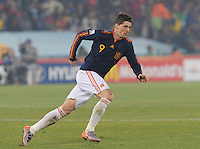 Forward Fernando Torres shows for the ball. Spain won Group H following a 2-1 defeat of Chile in Pretoria's Loftus Versfeld Stadium, Friday, June 25th, at the 2010 FIFA World Cup in South Africa..