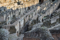 Interior of the Colosseum, Rome Italy