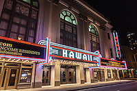 Hawaii Theatre at night, Honolulu