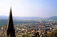 Marburg: Panoramic view from Schloss. Photo '87.