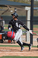 Chicago White Sox outfielder Louis Silverio (98) during a Minor League Spring Training game against the Chicago White Sox at Camelback Ranch on March 16, 2018 in Glendale, Arizona. (Zachary Lucy/Four Seam Images)