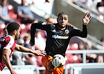 Sheffield United's Leon Clarke in action during the League One match at the Sixfields Stadium, Northampton. Picture date: April 8th, 2017. Pic David Klein/Sportimage