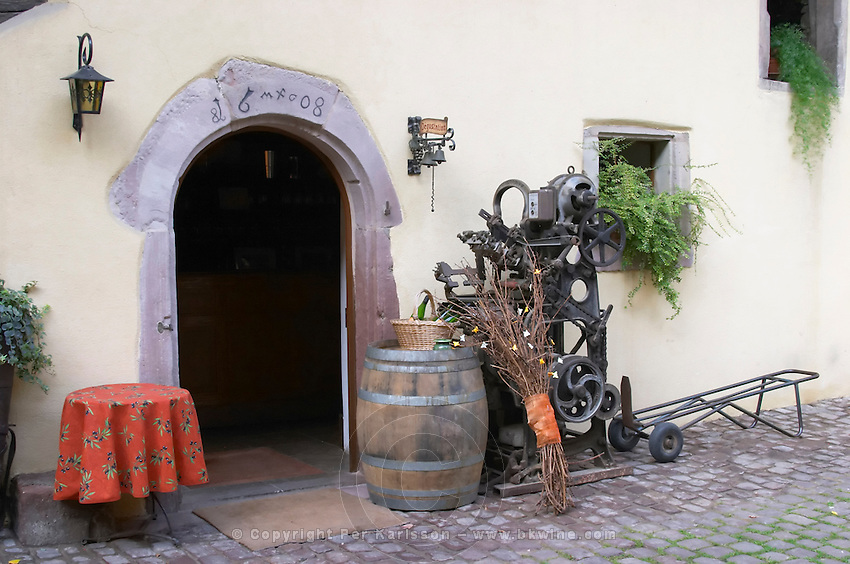 entrance marked 1608 dom bruno sorg eguisheim alsace france