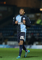 Jermaine Udumaga of Wycombe Wanderers during the Sky Bet League 2 match between Wycombe Wanderers and Crawley Town at Adams Park, High Wycombe, England on 28 December 2015. Photo by Andy Rowland / PRiME Media Images